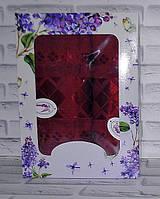 Набор полотенец махра банное и лицевое 2 шт (Q-393)