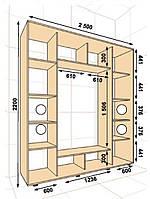 Шкаф купе 2500*450*2200, фото 1