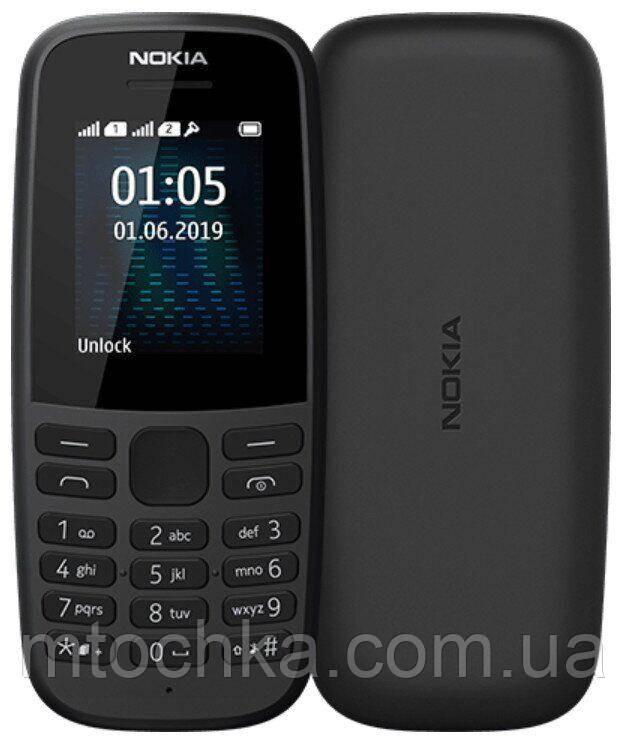 Телефон Nokia 105 2019 Single Sim Black