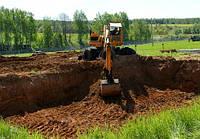Разработка котлована, земляные работы