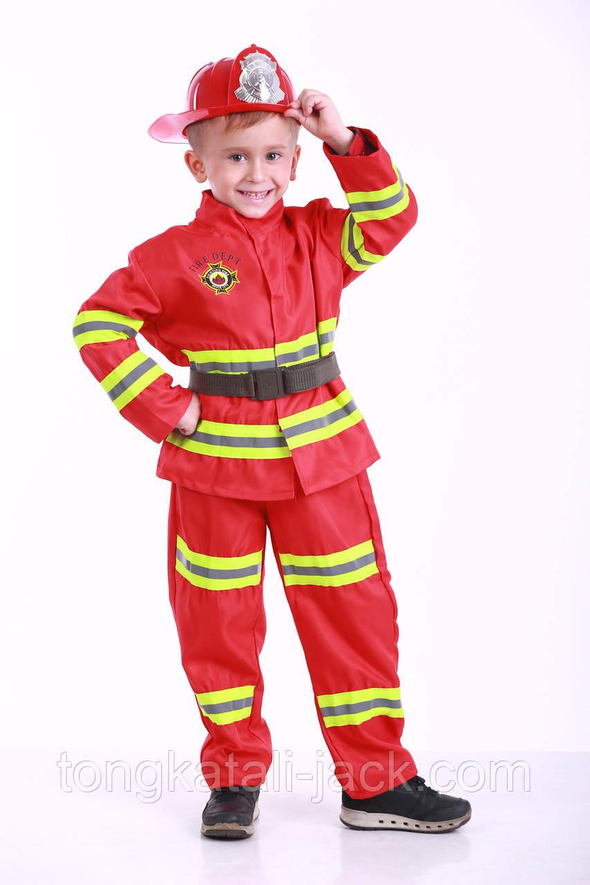 Костюм пожежника 110-122 см, прокат карнавального одягу