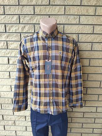 Рубашка мужская коттоновая брендовая высокого качества JFF, Турция, фото 2