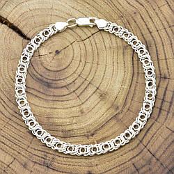 Серебряный браслет Арабский Бисмарк длина 23 см ширина 5 мм вес серебра 8.5 г