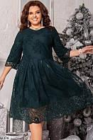 Красивое нарядное платье большого размера 2 цвета (48-58)