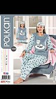 Махровая пижама женская теплая Moddalife