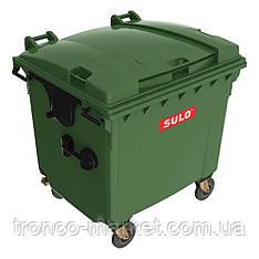 Контейнер для мусора на колесах   SULO EN-840-2/1100Л_зеленый