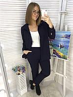 Брючный костюм женский Брюки и рубашка Креп диагональ Размер 48 50 52 54 56 58 60 В наличии 6 цветов, фото 1