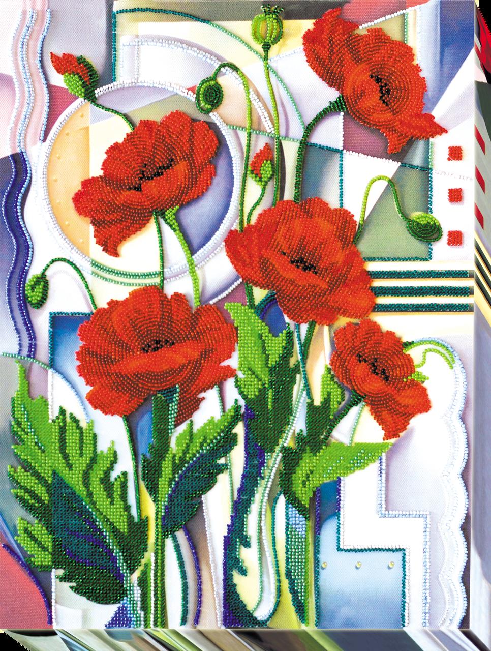 Набор для вышивки бисером Цветы Морфея (30 х 40 см) Абрис Арт AB-529