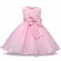 Шикарное нарядное пышное платье розовое для девочки (на утренник, на фотосессию, на день рождения
