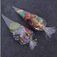 Прозрачный треугольный упаковочный пакет 26х12,5 см. Пакет Конус (10 шт)