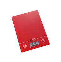 Весы кухонные adler AD 3138 red (Польша)