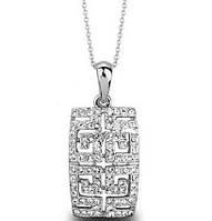 Кулон ГРЕЦИЯ SHINE SILVER ювелирная бижутерия золото 18к кристаллы Swarovski