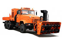 Аренда дорожной машины с роторным снегоочистителем КрАЗ 6322