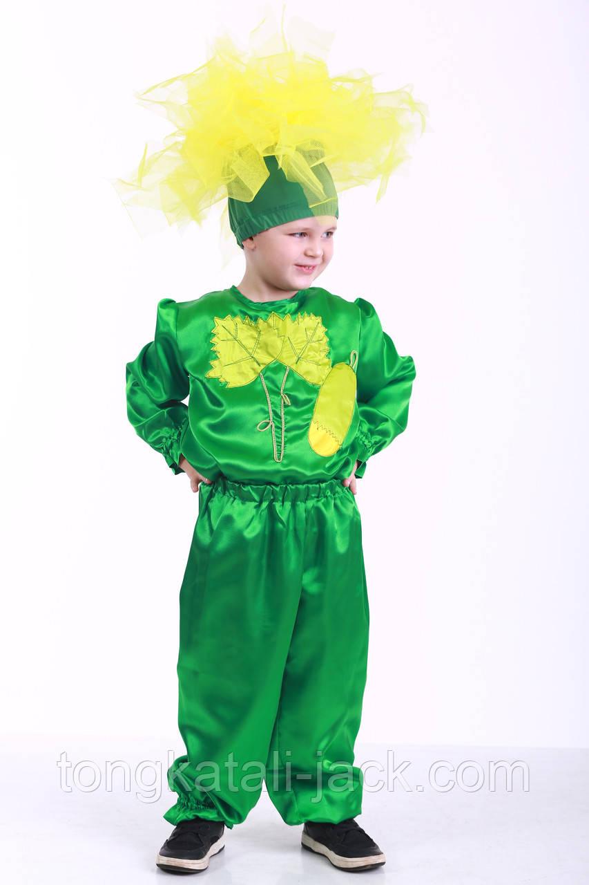 Костюм огурчика 116-128 см, прокат карнавальных костюмов