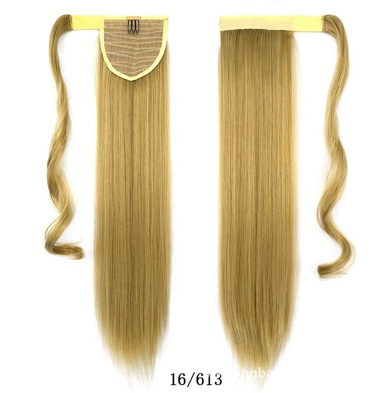 Купити Шиньйон Хвіст не дорого 60 см мелірування на світло русяве волосся