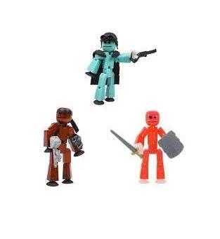 Набор для анимационного творчества Stikbot 3 в 1 / Фигурки для анимационного творчества StikBot с оружием