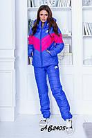 Женский теплый лыжный костюм синтипон на иск. овчине 3расцв.42-48р., фото 1