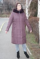 Пальто женское зимнее П-62 бардо