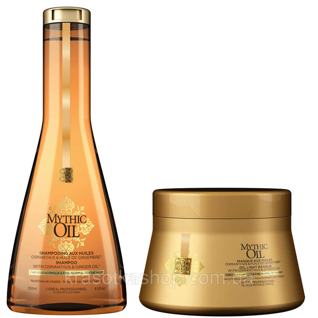 Купить Mythic Oil Masque, L'Oreal - Питательная маска для нормальных и тонких волос, 200 мл, L'Oreal Professionnel