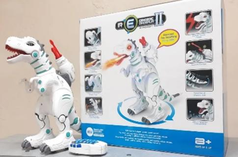 Интерактивный динозавр Intelligent Robot Dinosaur Remote Control Робот-lинозавр на пульте управления