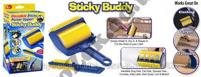 Валик для уборки Стики Бадди (Sticky Buddy) Reusable Sticky Picker Upper