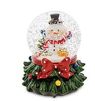 """Новогодние украшения Шар со снегом """"Снеговики"""", фото 1"""