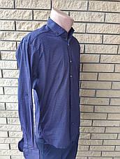 Рубашка мужская коттоновая стрейчевая брендовая высокого качества HARWEST, Турция, фото 3