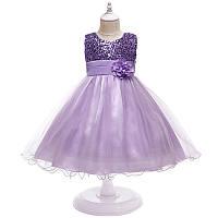 Очень нарядное пышное платье с паетками для девочки (на утренник, на фотосессию, на день рождения) р. 6, 7 лет