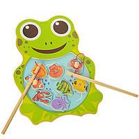 Деревянная игрушка Рыбалка на магнитах, развивающие товары для детей.