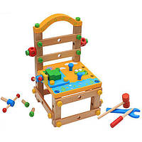 Деревянная игрушка Большой стул- конструктор, развивающие товары для детей.