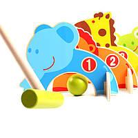 Деревянная игрушка Крокет детский, развивающие товары для детей.