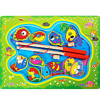 Деревянная игрушка Игра «Рыбачок», развивающие товары для детей.