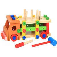 Деревянная игрушка Машина- конструктор разборная, развивающие товары для детей.