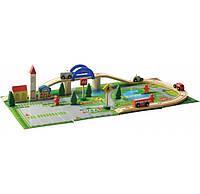 Деревянная игрушка Игральный меганабор «Автострада», 40 дет., развивающие товары для детей.