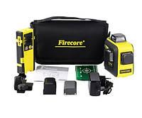 Лазерный уровень/лазерный нивелир 3D Firecore F93T-XG БИРЮЗОВЫЙ ЛУЧ + приемник лазерного луча