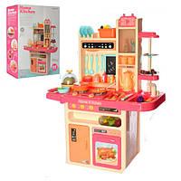 Детская кухня  игровой набор Premium, 65 предметов, свет, звук, вода и пар