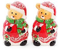 """Набор для специй """"Новогодняя Мишки"""" 2 предметов, солонка и перечница в форме мишек"""
