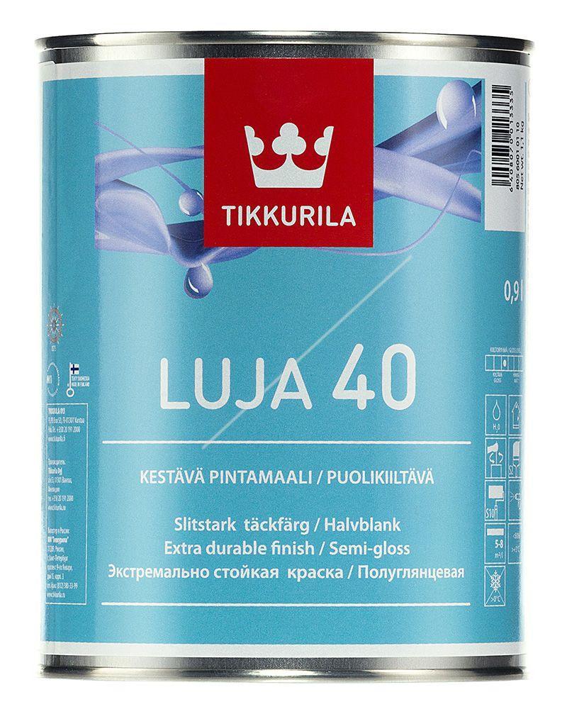 Интерьерная краска Tikkurila Luja 40 0,9л (полуглянцевая)