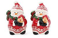 """Набор для специй """"Новогодняя Снеговички"""" 2 предметов, солонка и перечница в форме снеговиков"""