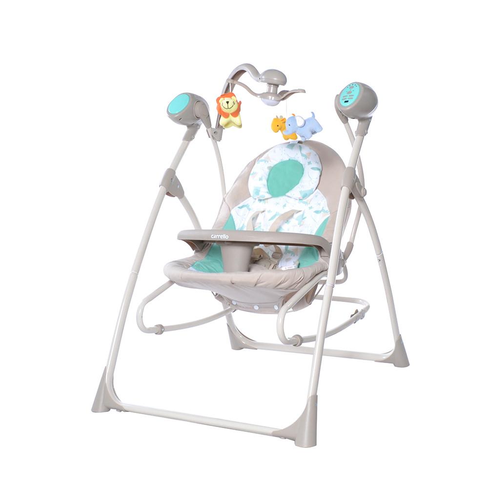 Детские колыбель-качели 3 в 1 CARRELLO Nanny  / Azure Beige