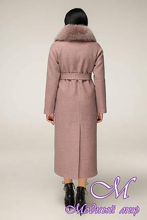 Зимнее длинное пальто с мехом (р. 44-54) арт. 12-29/8-2, фото 2