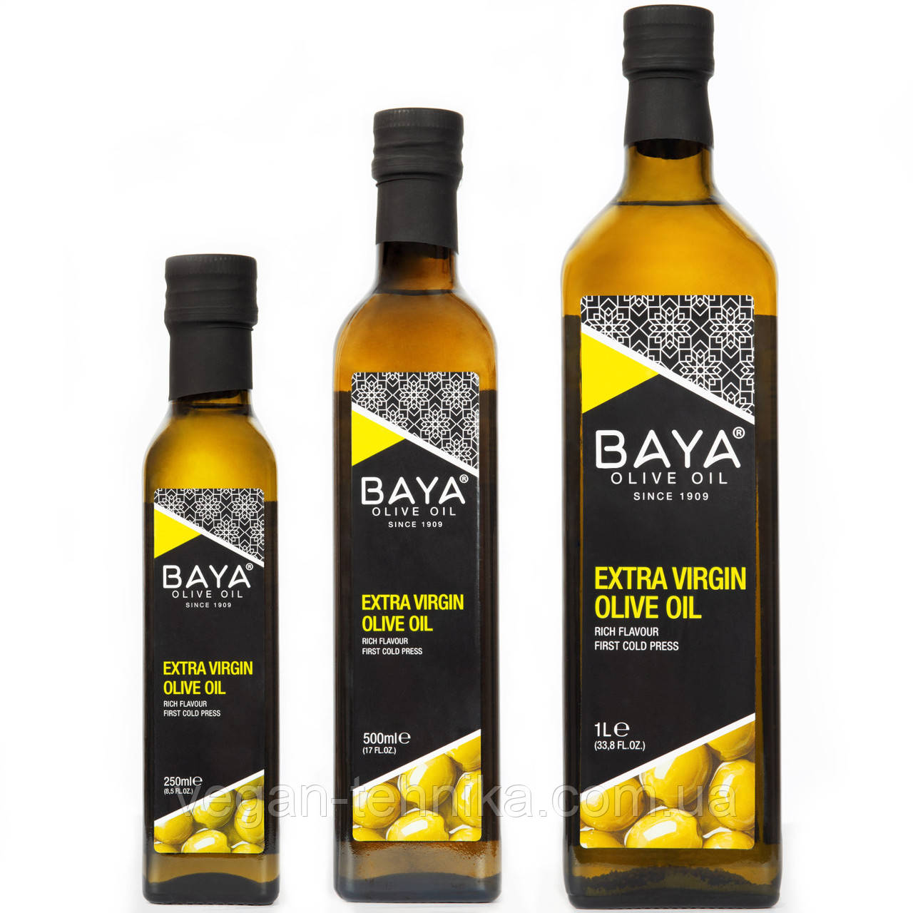 Оливковое масло холодного отжима BAYA Extra Virgin Olive Oil