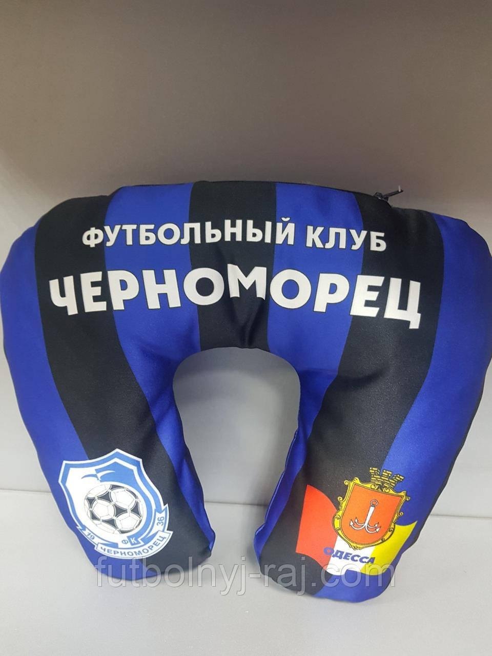 Подушка 35 х 30 см с символикой ФК Черноморец.