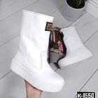 Зимние женские сапоги белого цвета, натуральная кожа 36 ПОСЛЕДНИЙ РАЗМЕР, фото 5