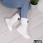 Зимние женские сапоги белого цвета, натуральная кожа 36 ПОСЛЕДНИЙ РАЗМЕР, фото 7