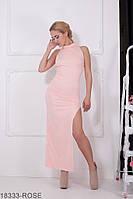 Елегантне приталене плаття з розрізом на нозі і вирізом на спині Desire