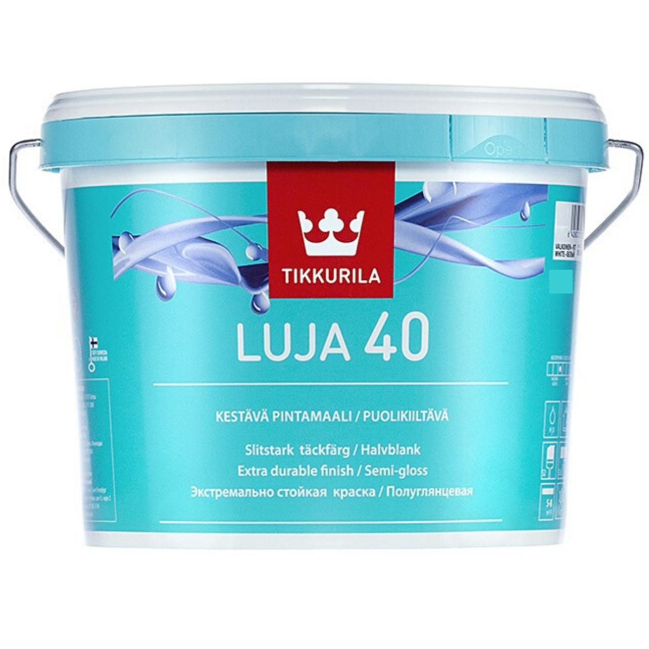 Интерьерная краска Tikkurila Luja 40 2,7л (полуглянцевая)