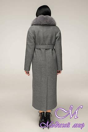 Довге зимове пальто з хутром (р. 44-54) арт. 12-29/10, фото 2