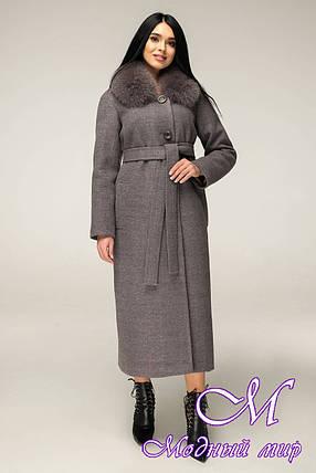 Теплое зимнее пальто ниже колена (р. 44-54) арт. 12-29/13, фото 2