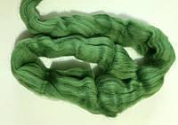 Шерсть для валяния австралийский меринос 23 микрон (10 грамм = 25 см) - травянистый. Фелтинг. Вовна